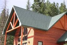 Log Cabins with Metal Roofs