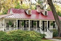 Red Roof Inspiration / Beautiful and maintenance-free metal roofing by McCarthy Metal Roofing, available in several shades of red.