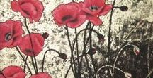 Acrylic painted Poppies / Acrilic painted poppies