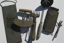 "Kitchen & Home Gadgets / Vintage/Primitive.  See ""Green Kitchen Ware"" for others mostly of the Depression Era. / by Kathie Tietze"