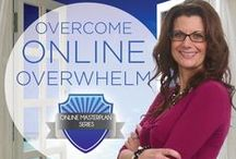 Overcome Online Overwhelm / Don't let overwhelm stop you dead in your tracks, stealing your online dreams before they become a reality. Learn how to overcome online overwhelm with the tips and tricks from the Online MasterPlan Series Mentors! #OverwhelmMustStop
