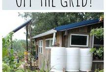 TiNY LiViNG / Tiny houses, off-the-grid -living, etc..