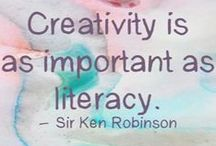 Creativity / Creativity takes many different forms and everyone is creative. Here is pin what I find inspiring in the world of creativity including crafts, art, illustration and quotes