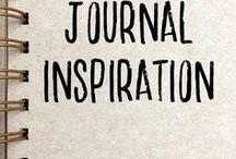 Journal Inspiration / inspiration and ideas for art journals, travel journals, personal diaries, bullet journals and planners