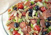 Salad + Dressing / Healthy Italian Salad & Dressing.