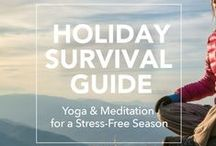 Holiday Survival: Yoga + Meditation / Your #1 source for surviving the holidays complete with yoga and meditation tips!  http://www.gaia.com/my-yoga/holiday-survival-guide?cid=soc:pinterest:MY:c029