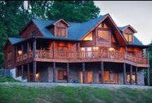 Log Homes / Custom Log homes #northidaho #loghomebuilders #loghomeplans #SandpointIdaho