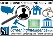 Background Checks / Employment background checks and tenant background checks.