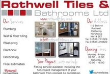 Rothwell Tiles & Bathrooms / Rothwell Tiles & Bathrooms ltd. 1-3 Bell Hill, Rothwell, Kettering, Northants NN14 6ET  http://www.rothwelltiles.co.uk/ Pop in anytime for a cuppa and a browse :)