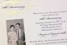 Anniversary Invitations / Custom Anniversary Invitations by Hyegraph.