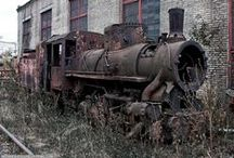 Ghost Trains  / End Of The Line. Old & Abandoned Trains, Train Stations, Tracks & More...  / by Bill Kennedy