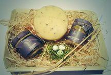 #Pasqua #Delizie / Cesto con #prodotti #artigianali con #tartufo