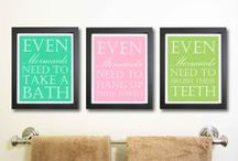 Bathroom Decor / Just some ideas for decorative accessories for your bathroom :)