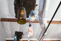 Light Fixtures / Light fixtures to add a rustic and industrial feel to any space. Not to mention a great way to save the planet!