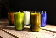Candles & Candle Holders / Display your candles in fun and innovative ways that will get people talking! http://www.bottlesandwood.com/candle-holders/