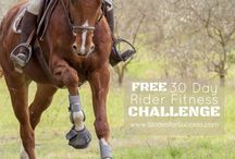 30 Day Rider Fitness Challenge / Ever wondered how strange it is that we spend so much time working on our horses fitness...  And so little on our own?!  Post exercises, photos and workouts that help inspire you to Make EVERY Ride Great... Then go sign up at http://30DayRiderFitnessChallenge.com for the free challenge!