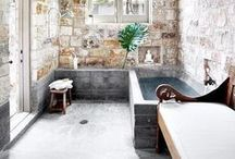 Bathrooms - or to feel as a snug in a rug / Who needs spa if your bathroom looks like this. Showering and take a bath in rooms like this - there is no other way to feel comfortable as possible...6 Star bathrooms made by your own!