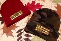 Studded Beanies / hand studded beanies made and designed by me for sale. www.mayrafabuleux.com