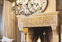 Mantels ~ / Gorgeous Fireplaces and Mantels
