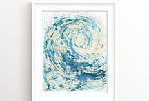 Art Inspiration / Beautiful art, abstract art, surf art, gold paintings, original painting