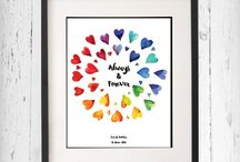 Prints - inspiration for the home / Cute prints I love, home decor print, gift ideas, inspirational quotes