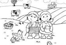 Ausmalbilder für kreative Kinder / Nach Lust und Laune können unsere Ausmalbilder ganz individuell gestaltet werden: Der Phantasie der Kinder sind keine Grenzen gesetzt. Ob bunt oder einfarbig, die Bilder können nach Belieben selbst gestaltet werden.