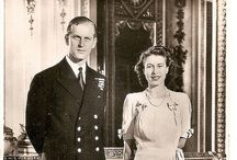 Queen Elizabeth and prince Phillip the early years / Early days and the  making  of History. / by Linda