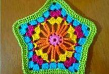 Crochet motif. / Вязаные крючком мотивы.