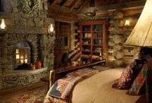 A house in the woods / Decor ideas for a countryhouse lost somewhere in the middle of green forests and rocky mountains