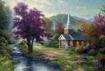 Chapel Art / Masterpieces of art by famous painter Thomas Kinkade