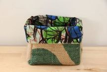 Handmade baskets for cozy homes / I simply love baskets padded with textile