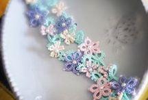 Tatting lace. Frivolite