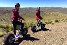 Monster Rollers at Afriski / Downhill fun for the young and old alike. These are great fun for all ages as you descend down our flowing downhill trails and get to see great views along the way. This is the new riding fun for the whole family in the Kapoko Bike Park.