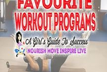 Favourite Workout Programs / I love to mix up my routines with some of my favourite workout sessions from my fitness DVD collection. Its like gym class  right there in your living room