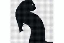 Filet zwierzęta / Wzory filet kotki, ptaszki i inne zwierzaczki