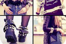 Styles I l♥ve  / Grunge, hipster, rock-chic, punk, navy style.