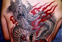 Black & red tattoos