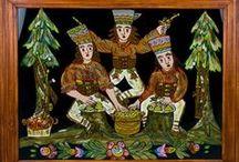 Polish Folk Glass Paintings