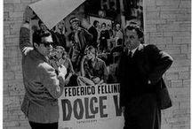 Federico Fellini  / Federico Fellini (January 20, 1920–October 31, 1993) was an Italian film director and scriptwriter. Known for his distinct style that blends fantasy and baroque images, he is considered one of the most influential filmmakers of the 20th century, and is widely revered. La Dolce Vita contributed the term paparazzi to the English language, derived from Paparazzo, the photographer friend of journalist Marcello Rubini. / by Anna