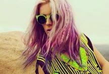 hair in rainbow shades