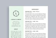 Resume Templates / Resume templates and resume design ideas for creative professionals