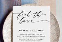 DIY Wedding Invitations / A collection of hand drawn, decorated, and DIY wedding invitations