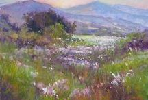 Artist Janis Ellison / Janis's landscape paintings in oil and pastel reside in galleries in Oregon and California. Her honors include signature status in Pastel Society of West Coast, Northwest Pastel Society, Pastel Society of New Mexico and Sierra Pastel Society, and Master Pastelist status with Pastel Society of Oregon. Published in The Pastel Artists International Magazine, she has won numerous prestigious awards in regional, national and international shows. See her listing in the Teaching Artists directory.