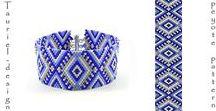 My peyote/brick/loom patterns / DIY, peyote pattern, loom pattern, bracelet pattern, ethnic bracelet, beaded bracelet, peyote bracelet, peyote stitch, loomwork, loomwork bracelet, design, geometric design