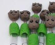Ponteiras para Lápis / Lápis com ponteiras decoradas com biscuit. Orçamento: alquimias.contato@gmail.com