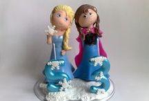 Frozen / Lembranças em biscuit Tema Frozen.