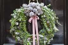 Holiday Wreath / Board filled with all kinds of wreaths from Summer to Winter to Christmas and more.