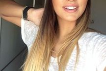 Ombre / Some hairstyle ideas to lighten up our face..especially for brunette girls or just experiment with their hair