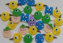 Monstros S.A / Lembranças em biscuit.