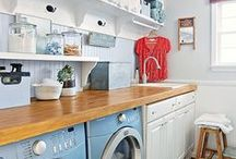 Decorating Laundry Rooms / An abundance of ideas for all kinds of laundry rooms.